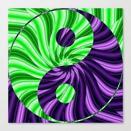 Yin and Yang Lotus Abstract Canvas Print