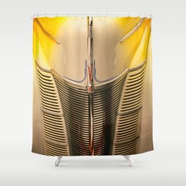 Classic Vintage Car Grill in Executive Yellow Shower Curtain