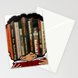 Lost in the pages Stationery Cards