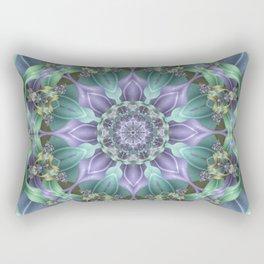 Ribbon Mandala in Blue and Purple Rectangular Pillow