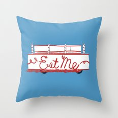 Eat Me Deathmobile Van Throw Pillow
