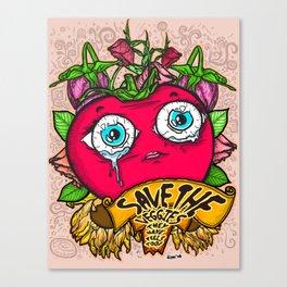Save the Veggies! - Tomato 2 Canvas Print