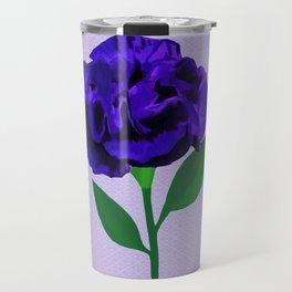 Bloomin' Violet on Lilac Travel Mug