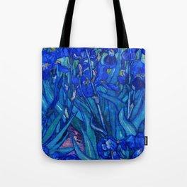 Van Gogh Irises in Indigo Tote Bag