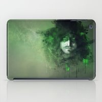 green arrow iPad Cases featuring Arrow by Rose's Creation