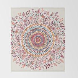 Sunflower Mandala Throw Blanket