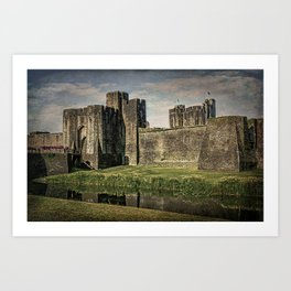 The Gatehouse At Caerphilly Castle Art Print