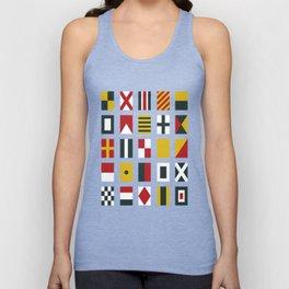 Nautical Flags Unisex Tank Top