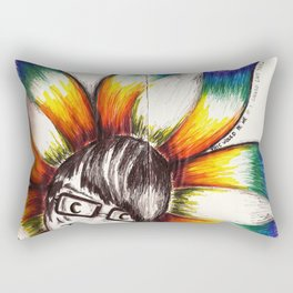 """This Would Be Me If I Looked Like This"" Flowerkid Rectangular Pillow"
