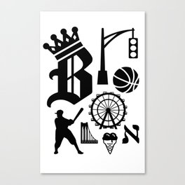 Brooklyn Letters, Ver. 3 Canvas Print