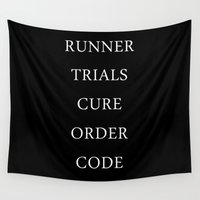 runner Wall Tapestries featuring Maze Runner Titles by IA Apparel