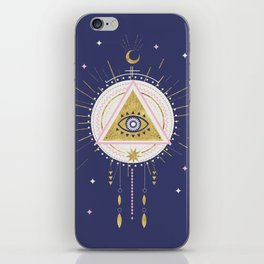 Magical night tarot illustration no5 iPhone Skin