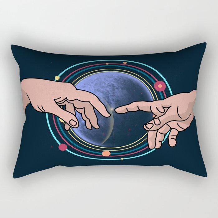 Michelangelo space blue Rectangular Pillow