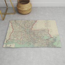 Vintage Map of Louisiana (1916) Rug