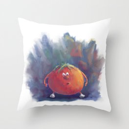 Tomato Dismay by dana alfonso Throw Pillow
