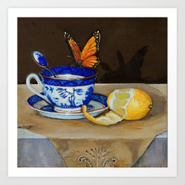 Teacup with Butterfly Art Print