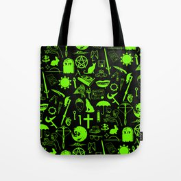 Buffy Symbology, Green Tote Bag