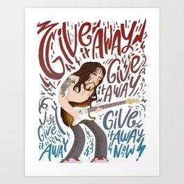 John Frusciante - Guitar Hero Art Print