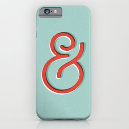 Ampersand red white and green and symbol typography design minimalist home decor wall decor iPhone Case