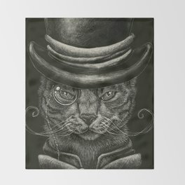 Classy Cat Throw Blanket