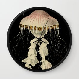 Vintage Illustration of a Jellyfish (1853) Wall Clock