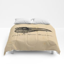 Nevermore - Edgar Allan Poe - Quoth the Raven Comforters