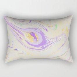 Modern pastel lavender purple yellow marble pattern Rectangular Pillow