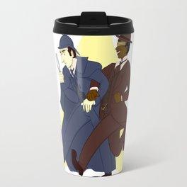 Data and Geordi as Sherlock and Watson Travel Mug