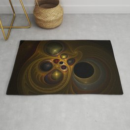 Colorful abstract fractal Rug