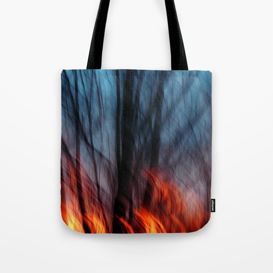 Out of the Blue into the Fire #II Tote Bag