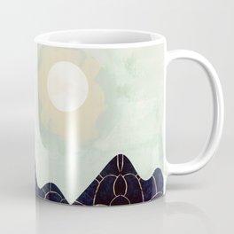 Indigo Forest with Gold Coffee Mug