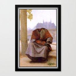 Bouguereau's Invisible Bohemian Canvas Print