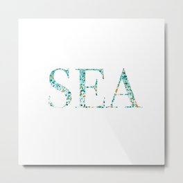 Sea Foam Metal Print
