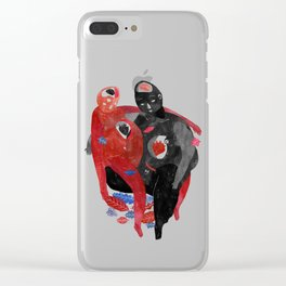 lovers-Help a long distance relationship !!!!!!!!! Clear iPhone Case