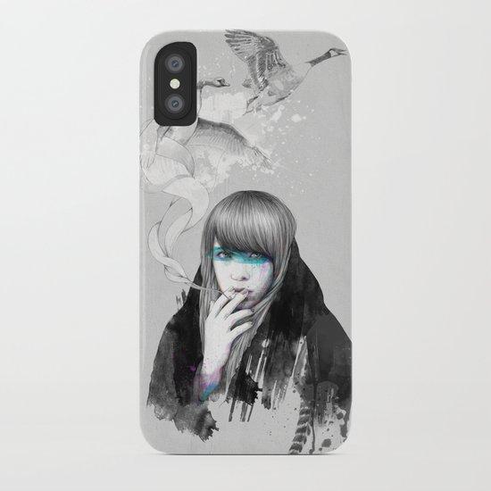 Swan Love iPhone Case