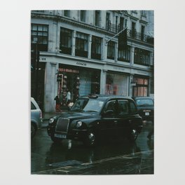 Black cabs - London Poster