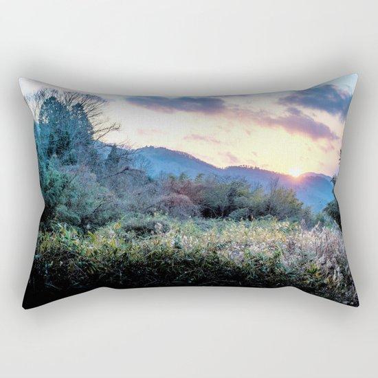 Mountain Sunrise Rectangular Pillow