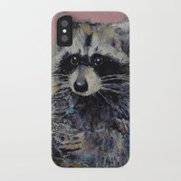 raccoon iPhone & iPod Cases featuring Raccoon by Michael Creese