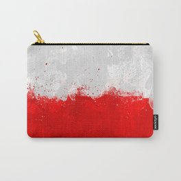 Poland Flag Grunge Carry-All Pouch