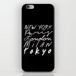 Fashion Capitals of the World iPhone Skin
