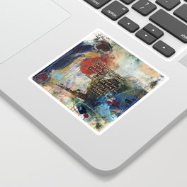 Scripture Bible Verse Christian Inspired Abstract Art by Michel Keck Sticker