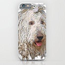 Dog Komondor Hungarian sheepdog livestock guardian corded coat iPhone Case