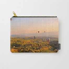 Hot Air Balloons Over a Beautiful Rugged Terrain Carry-All Pouch