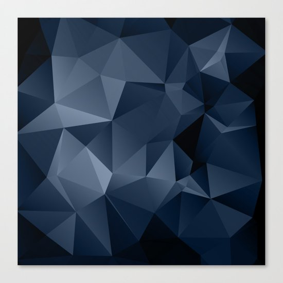 Black and blue polygonal pattern . Canvas Print