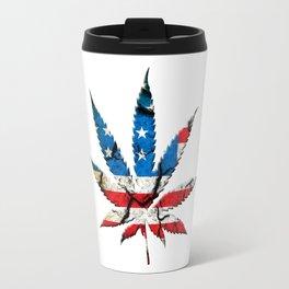 Marijuana leaf Travel Mug