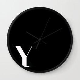 Initial Y Wall Clock