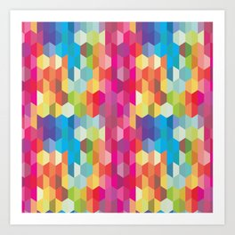 Rainbow Geodes Pattern Art Print