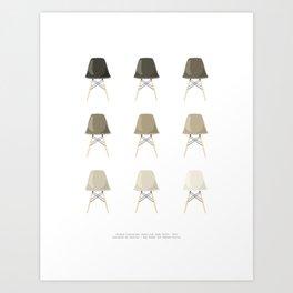 Chocolate Chairs Art Print