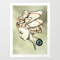 freeminds Art Prints featuring Moth 2 by Freeminds