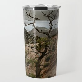 Colorful Mountaintop View with Withered Tree - Big Bend Travel Mug